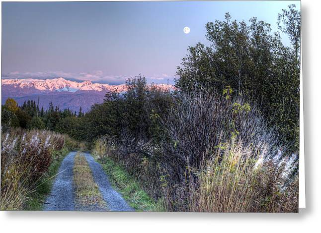 Greeting Card featuring the photograph Rising Moon by Michele Cornelius