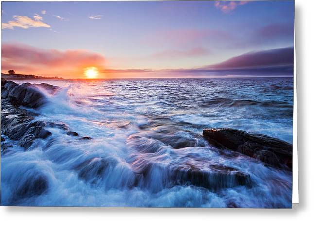 Rising Tide Greeting Card by Mircea Costina Photography