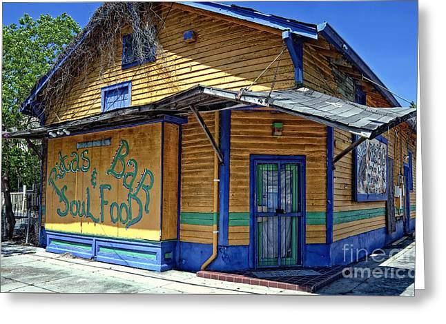 Rita's Bar And Soul Food In Algiers La Greeting Card by Kathleen K Parker