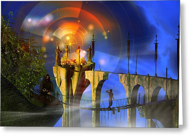 Greeting Card featuring the digital art Rite Of Passage by Shadowlea Is