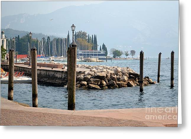 Greeting Card featuring the photograph Riva Del Garda by Kathleen Pio