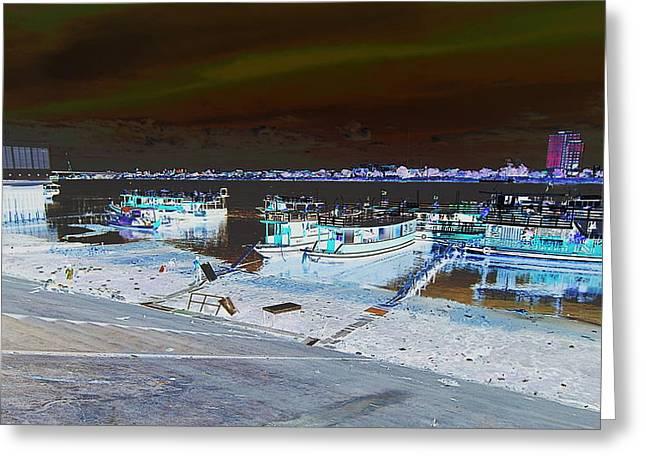 River Greeting Card by Arik S Mintorogo
