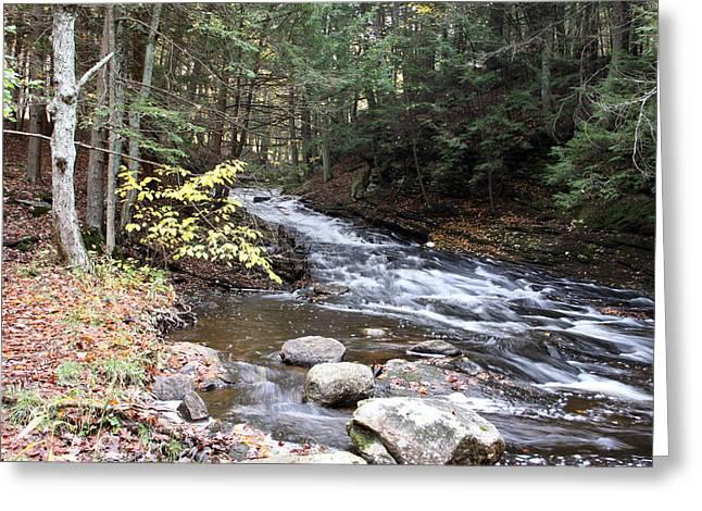 River Below Falls 3 Greeting Card