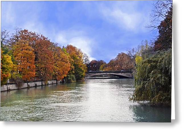 River Colors Greeting Card by Anthony Citro