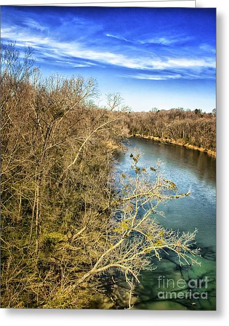 Greeting Card featuring the photograph River Crossing Virginia by Jim Moore