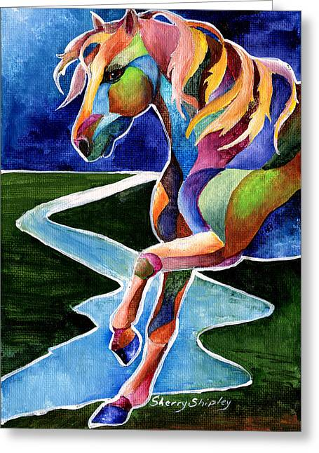 River Dance 2 Greeting Card