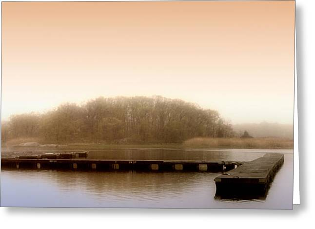 Greeting Card featuring the photograph River Fog by Karen Lynch