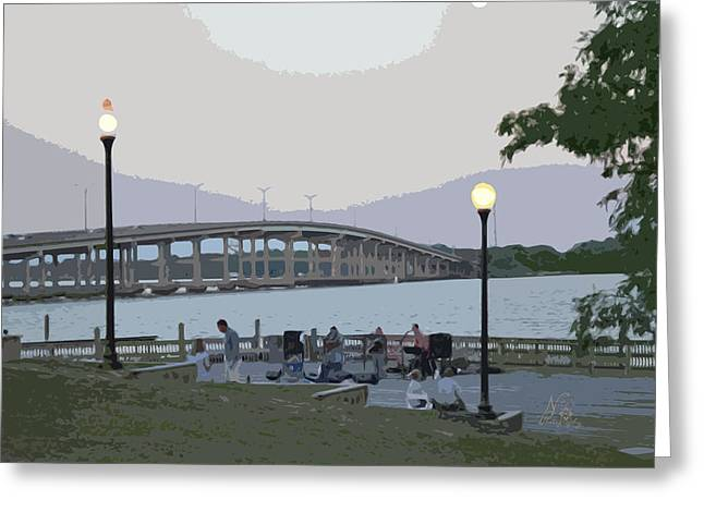 River Front Greeting Card