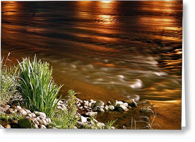 River Glow Greeting Card by Richard Gregurich