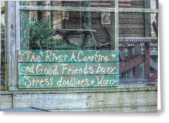 River Mantra Greeting Card