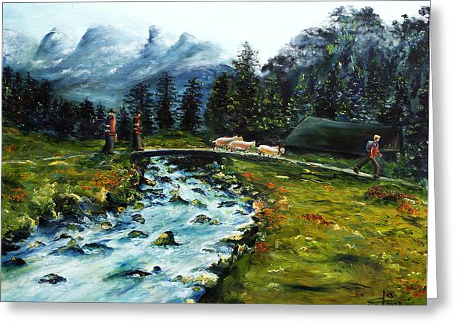River Of Dreams Greeting Card by Itzhak Richter