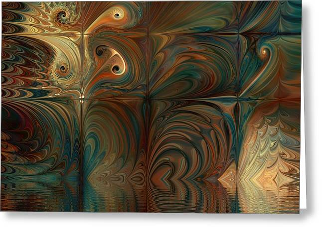 Greeting Card featuring the digital art River Of Dreams by Kim Redd