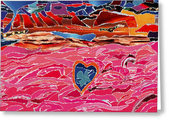 River Of Passion Greeting Card