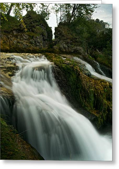 River Of Silk Greeting Card by Adam West