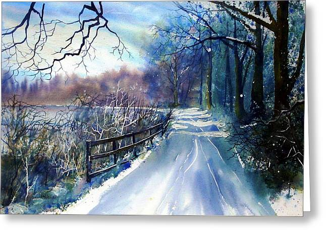 River Ouse In Winter Greeting Card