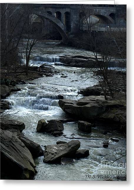 River Rapids Greeting Card by Melissa Nickle