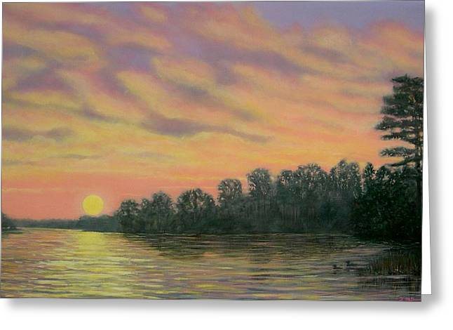 Greeting Card featuring the painting River Reflections by Kathleen McDermott