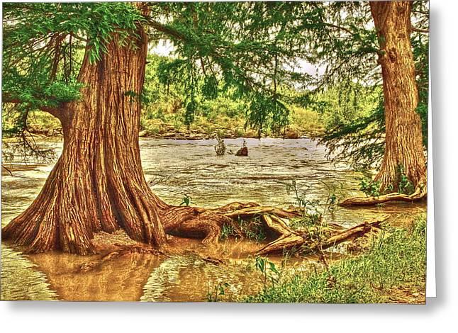 River Rise Greeting Card