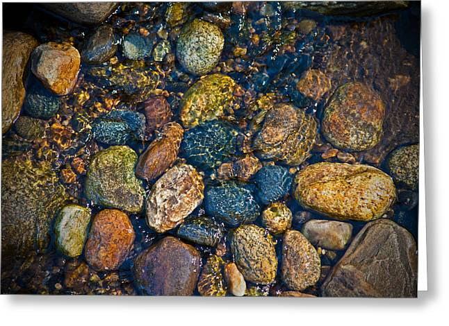 River Rock Greeting Card by Karol Livote