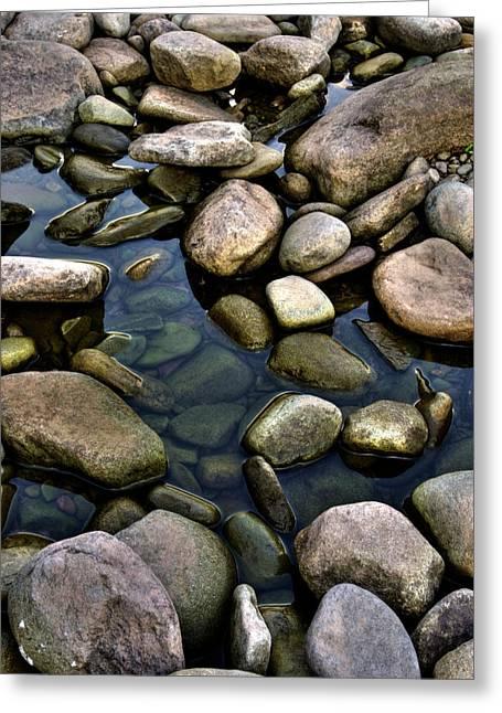 River Rocks Greeting Card by Nick  Shirghio