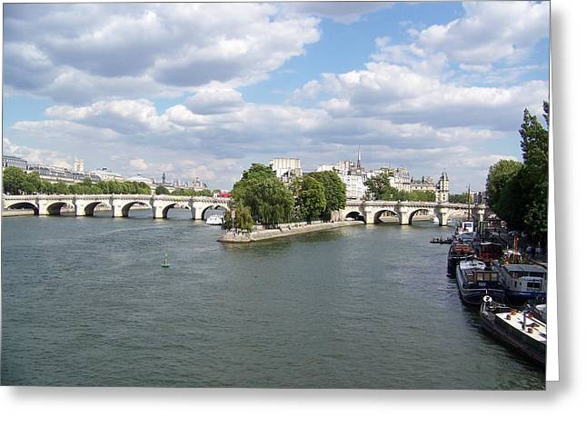 River Seine Greeting Card by Maggie Cruser