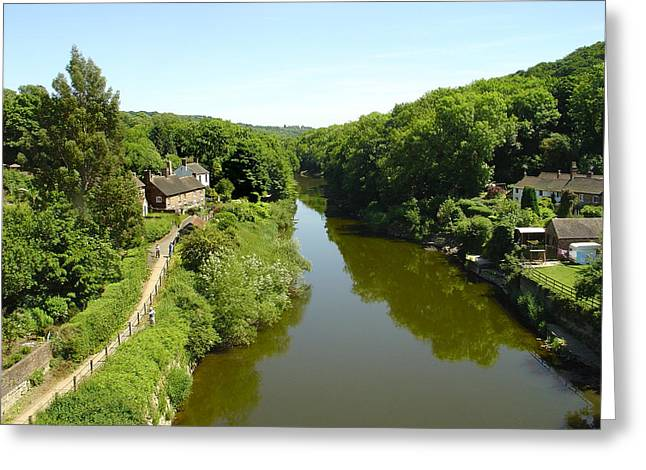 River Severn From The Iron Bridge Greeting Card by Rod Johnson