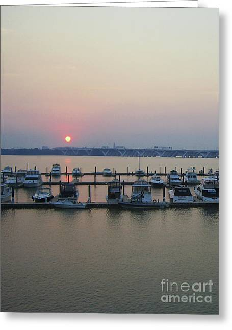 Greeting Card featuring the photograph River Sunset by Michael Waters
