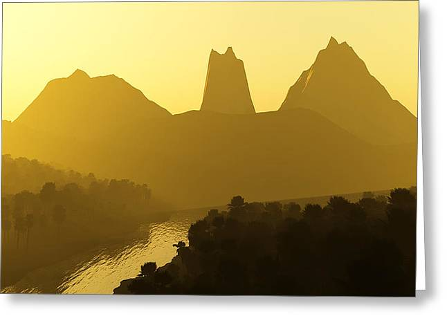 River Valley Greeting Card by Svetlana Sewell