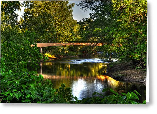 River Walk Bridge Greeting Card by Greg and Chrystal Mimbs