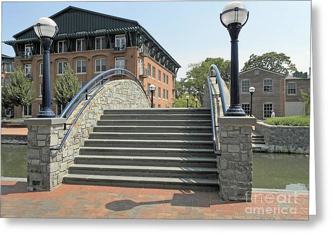 River Walk Bridge In Frederick Maryland Greeting Card