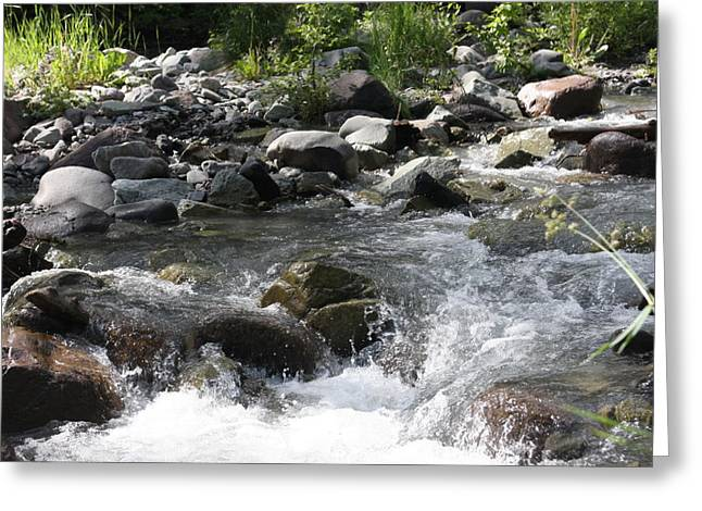 River Waterfall Greeting Card by Marta Alfred