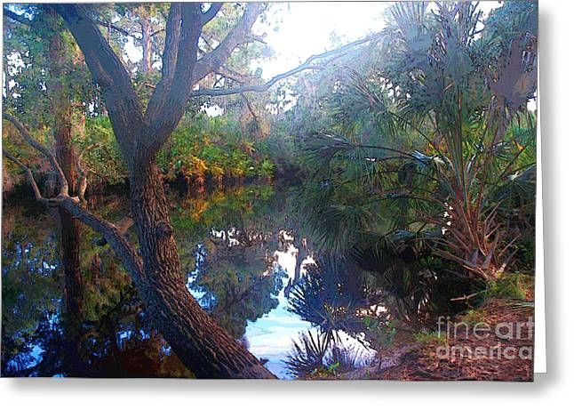 Riverbank Reflections1 Greeting Card