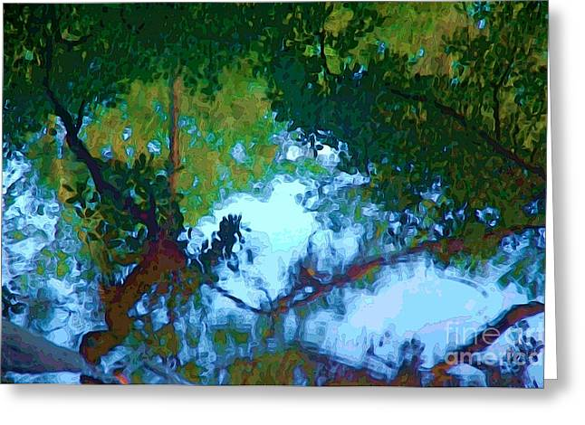Riverbank Reflections2 Greeting Card