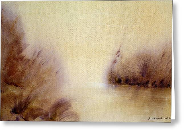 Riverbend Greeting Card by Jan Deswik