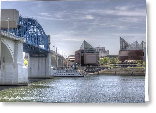 Riverfront Greeting Card by David Troxel