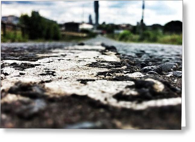 #road #closeup #tarmac #street Greeting Card