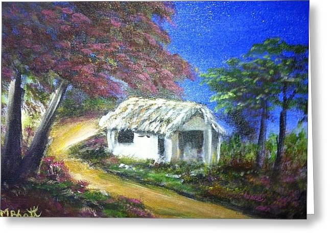 Road House Greeting Card by M bhatt