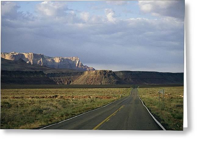 Road In Arizona Greeting Card by David Edwards