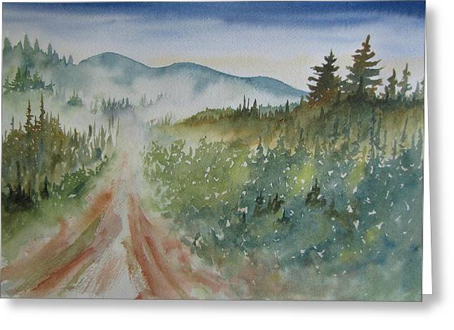 Road Through The Hills Greeting Card by Ramona Kraemer-Dobson