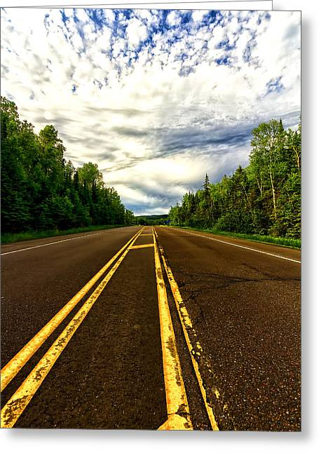 Road To Canada Greeting Card