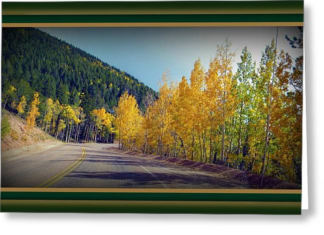 Greeting Card featuring the photograph Road To Fall by Michelle Frizzell-Thompson
