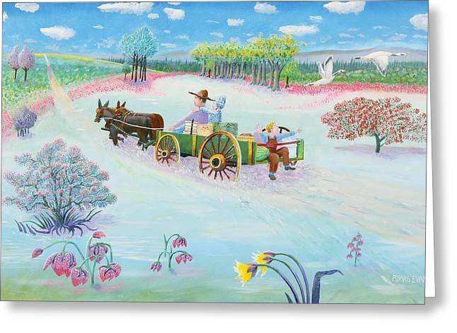 Road To Granny's House Greeting Card by Purvis Evans