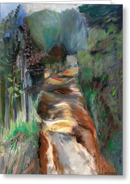 Road To Home Greeting Card by Susan Hanlon