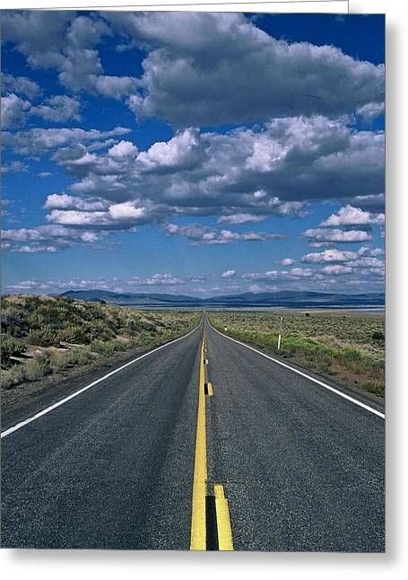 Road To Infinity Greeting Card