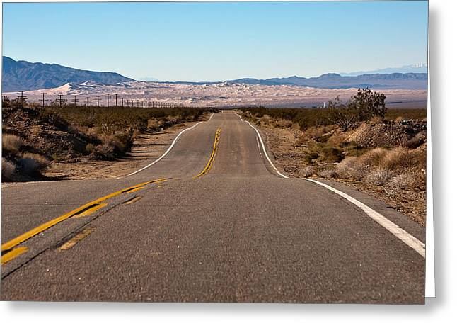 Road To Kelso Dunes Greeting Card by Dennis Hofelich
