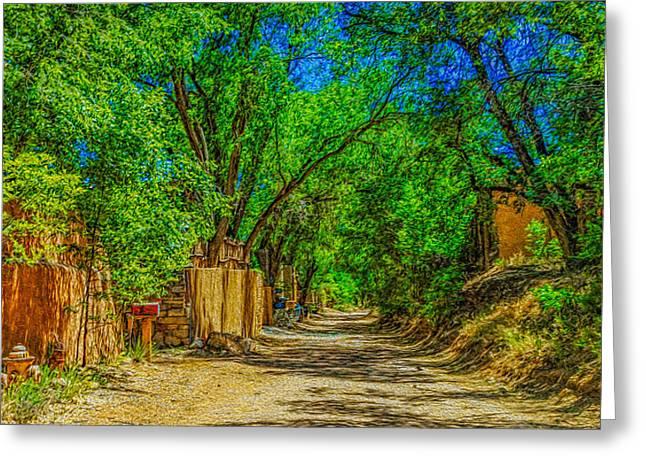 Road To Santa Fe Greeting Card by Ken Stanback
