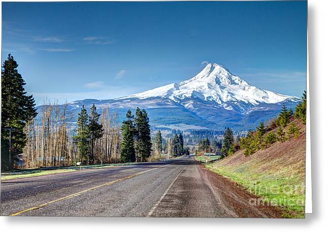 Timberline lodge greeting cards page 4 of 4 fine art america road to the majestic greeting card m4hsunfo