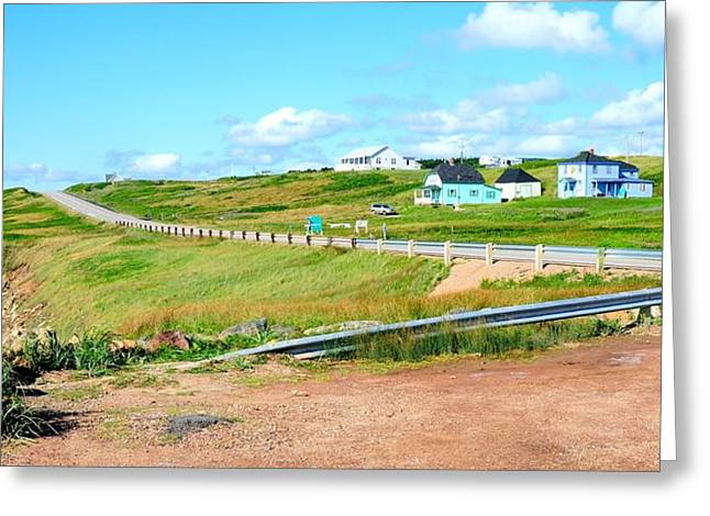 Greeting Card featuring the photograph Road Trip In Cape Breton Nova Scotia by Joe  Ng