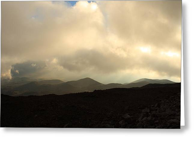 Greeting Card featuring the photograph Road Up Mauna Kea by Scott Rackers