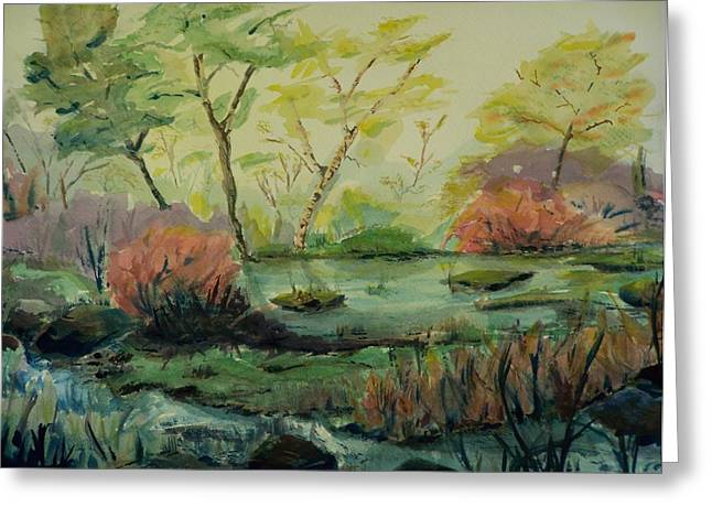 Roadside Pond Greeting Card
